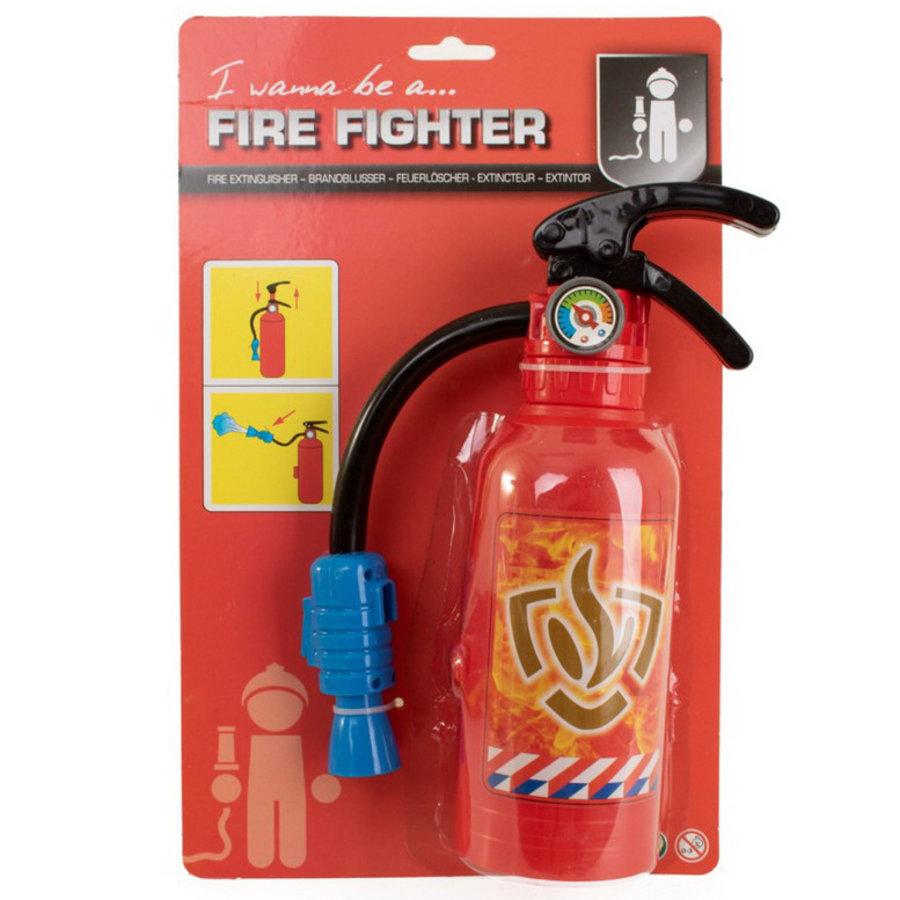 Brandblusser die echt water spuit