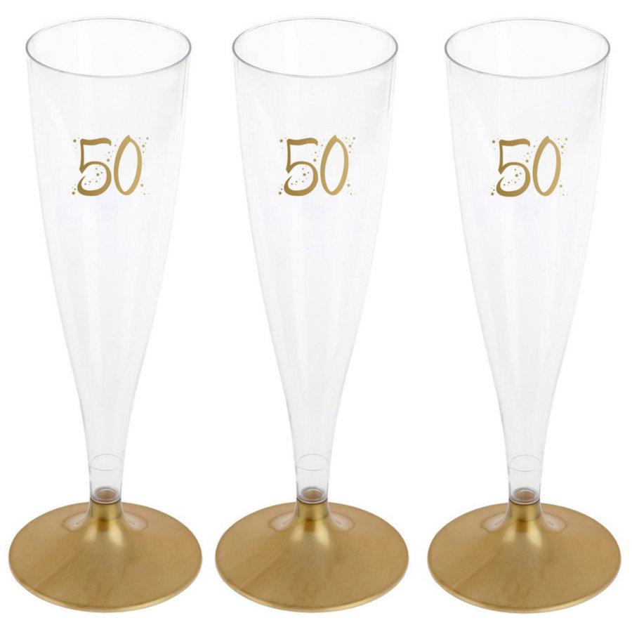 Party Proost glas 50 jaar 6 stuks