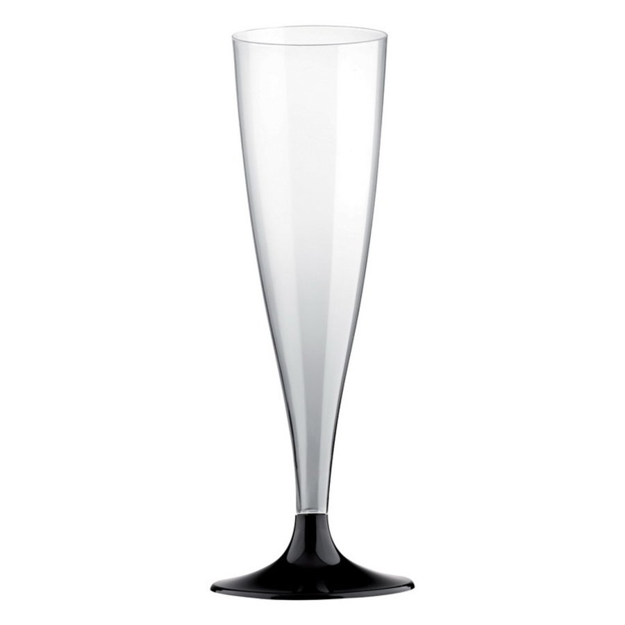 Party Proost glas met zwart voetje 10 stuks