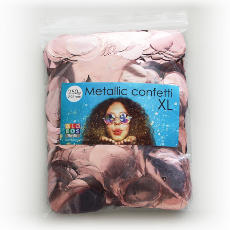Confetti rosé metallic XL 250 gram