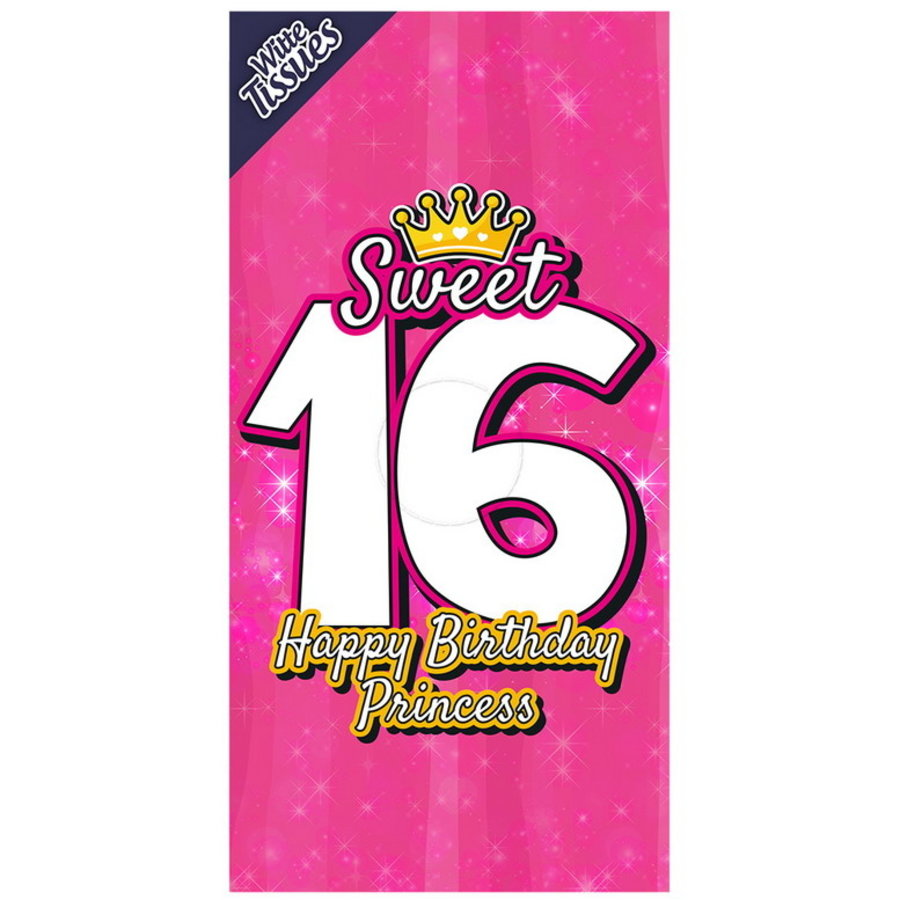 aTissue box Sweet 16 jaar Happy Birthday Princess