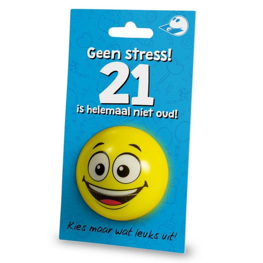Stressbal Geen stress 21 is helemaal niet oud