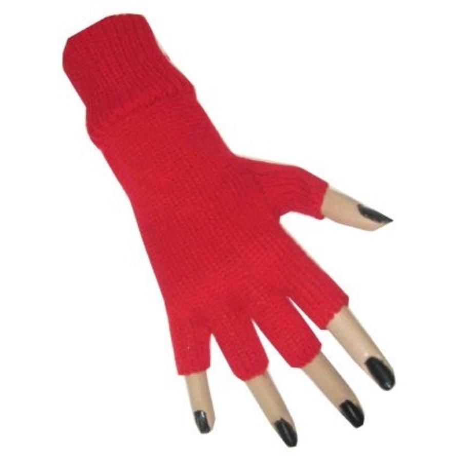 Handschoenen vingerloos rood