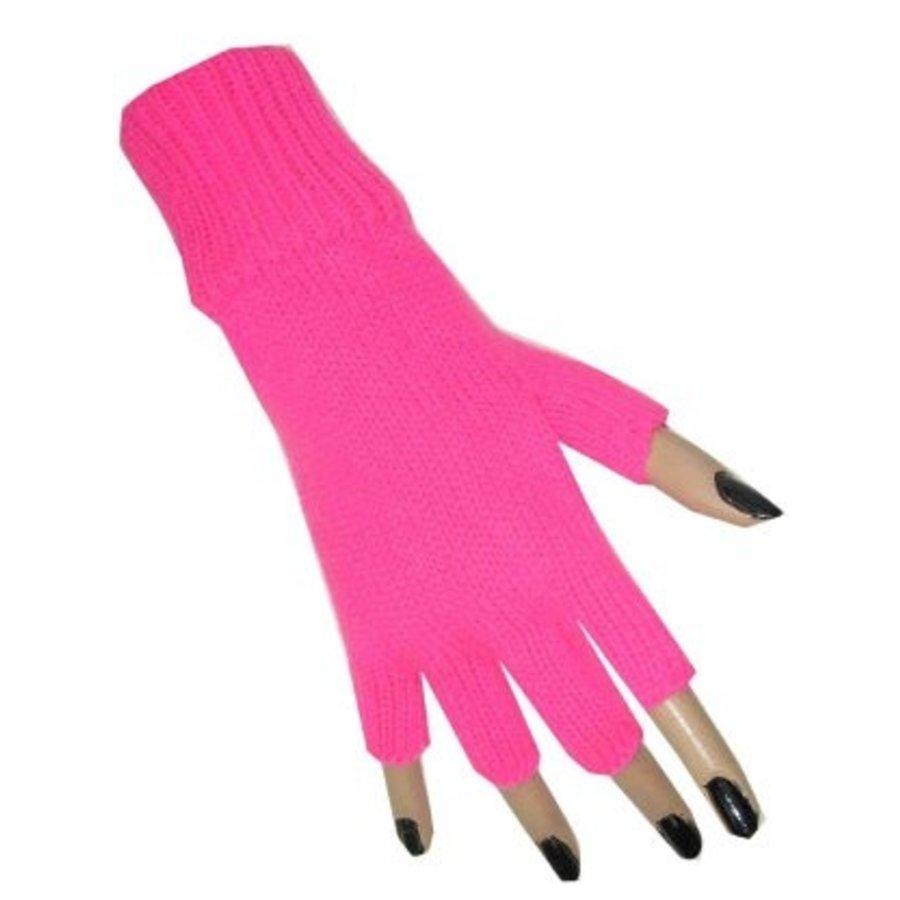 Handschoenen vingerloos fluor roze