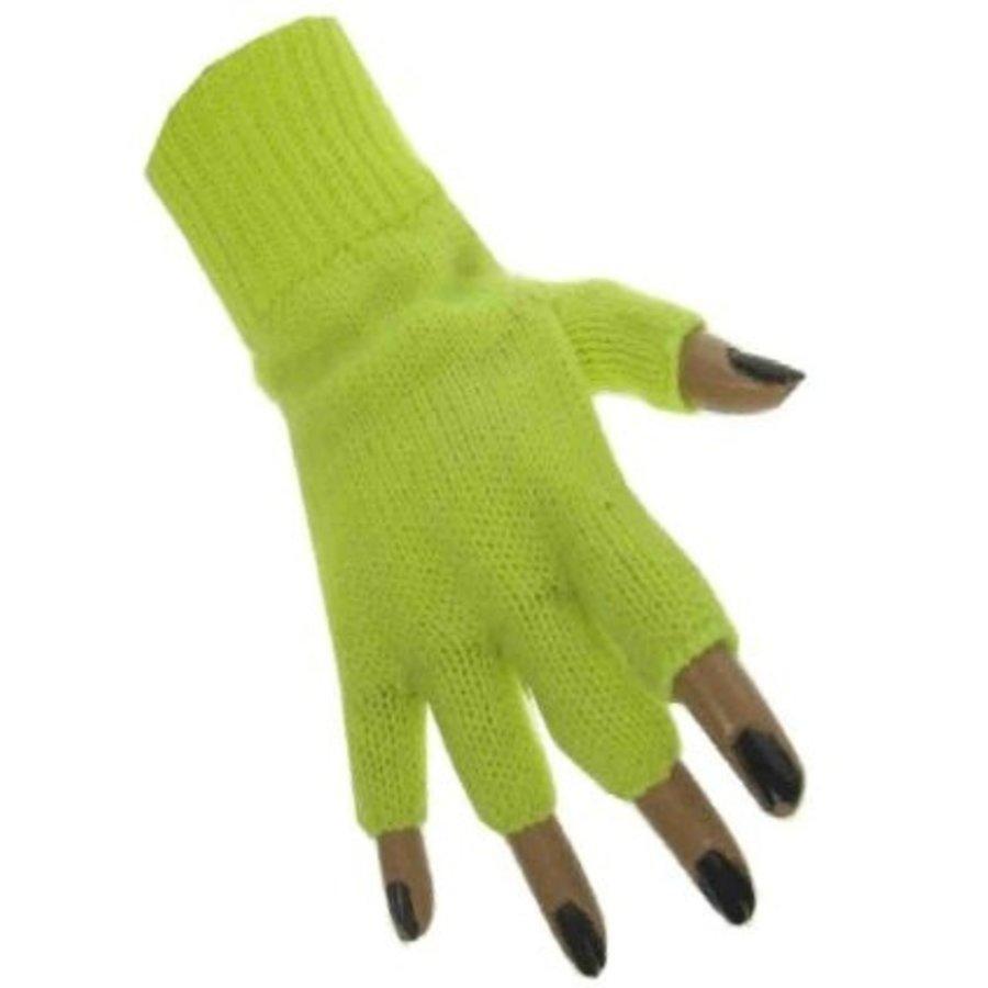 Handschoenen vingerloos fluor geel