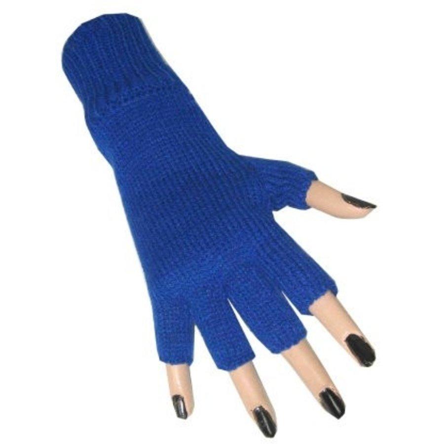 Handschoenen vingerloos donkerblauw
