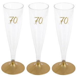 Party Proost glas 70 jaar 6 stuks