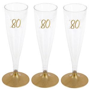 Party Proost glas 80 jaar 6 stuks
