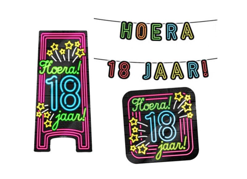 18 jaar neon party