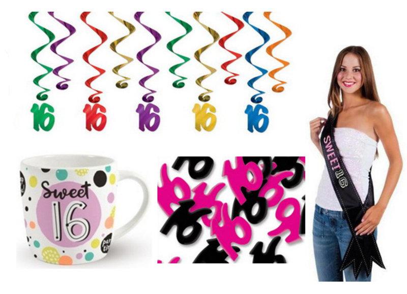 Alle Sweet 16 feestartikelen