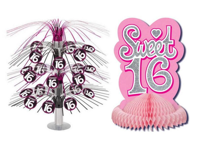 Sweet 16 tafeldecoratie