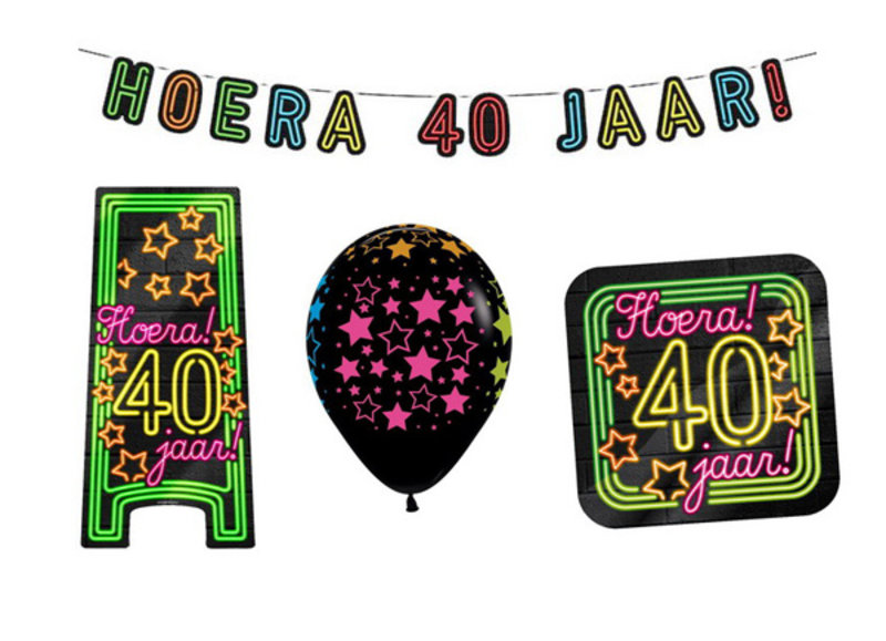 40 jaar neon party