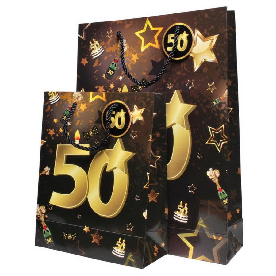 Tassenset 50 jaar goud-zwart