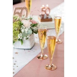 Party Proost glas 40 jaar rosé 6 stuks