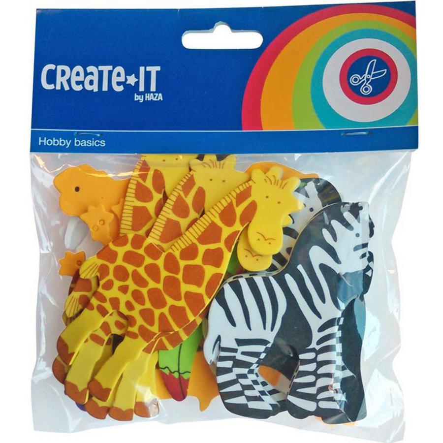 Foam stickers Safari dieren 32 stuks