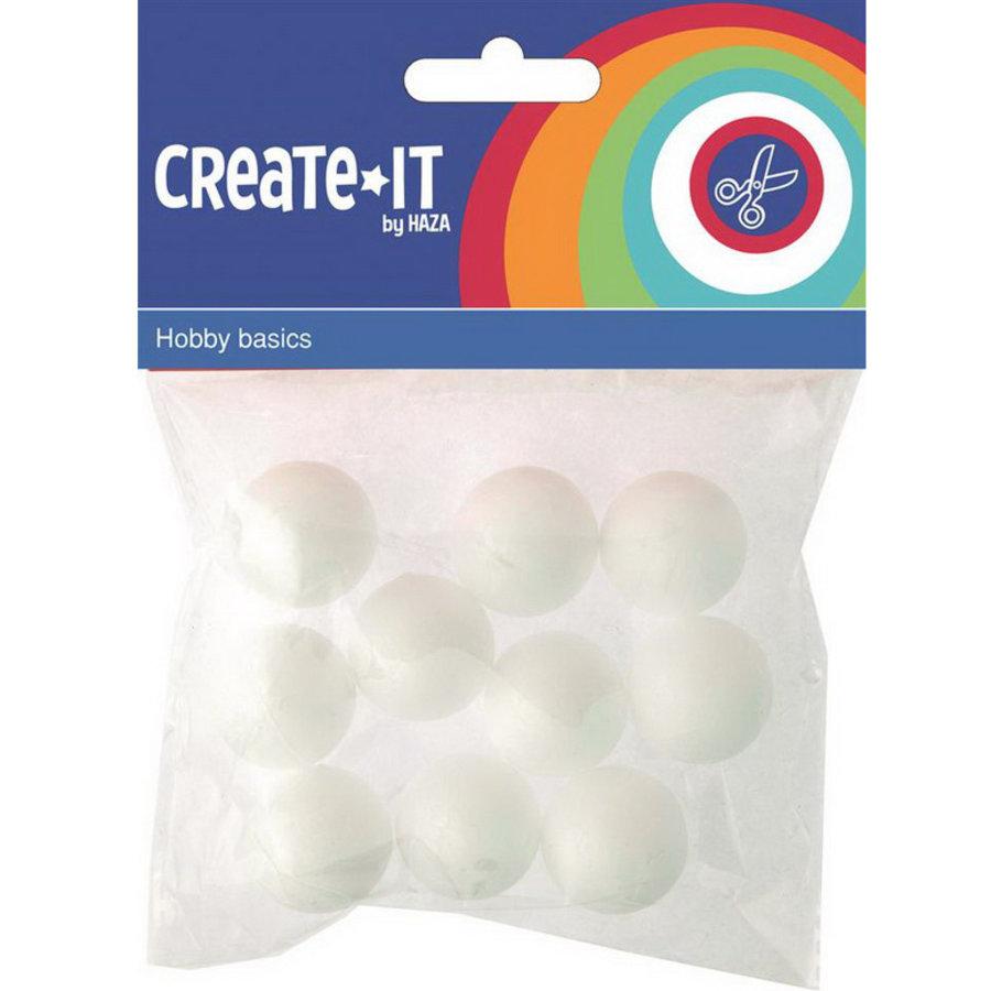 Polystyreen piepschuim bollen 10 stuks