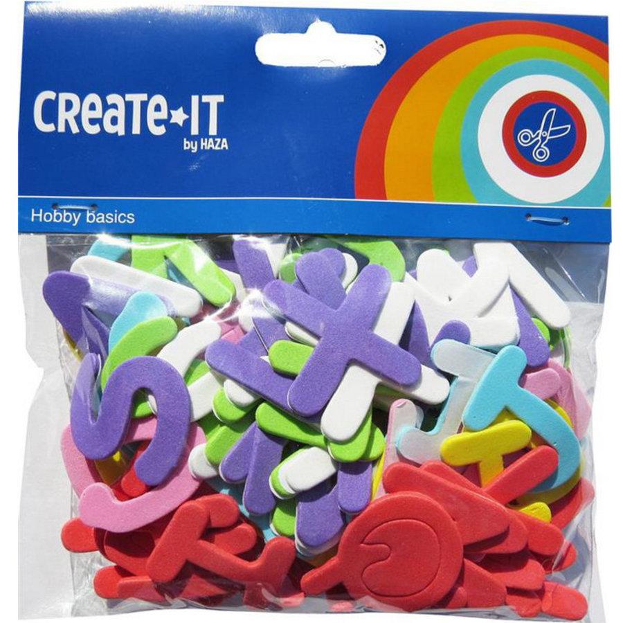 Foam stickers letters 104 stuks