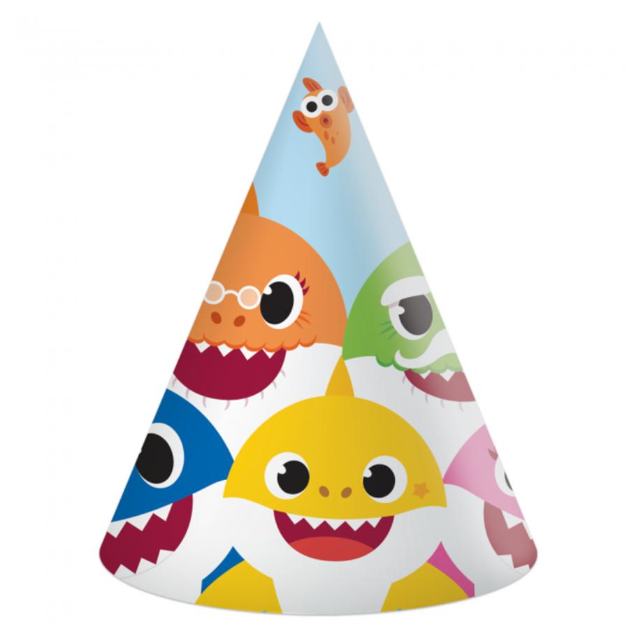 Hoedjes Baby Shark happy 6 stuks