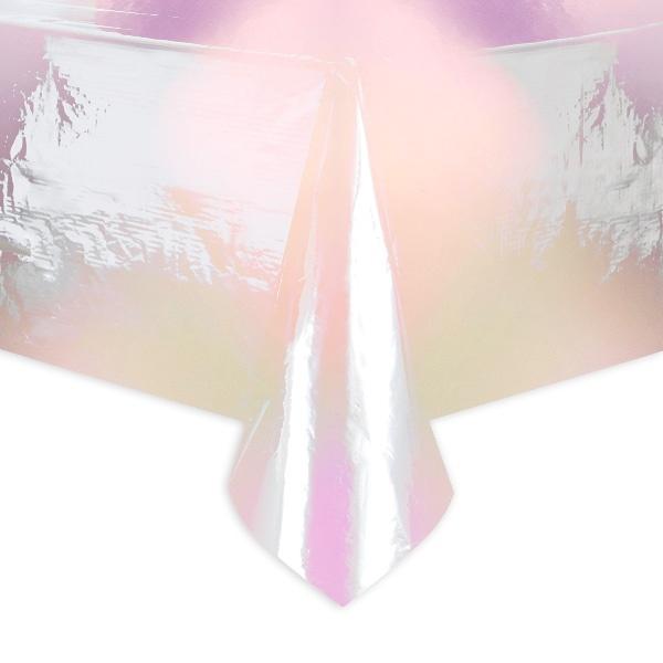 Tafelkleed iridescent parelmoer plastic