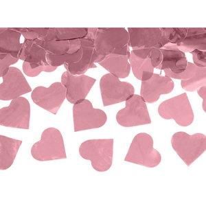 Confetti Cannon hartjes rosé goud