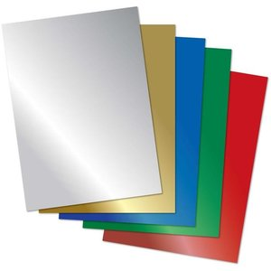 Spiegel karton 5 vellen A4 metallic