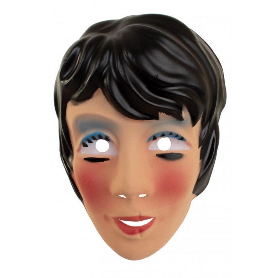 Masker Sarah jong met zwart haar