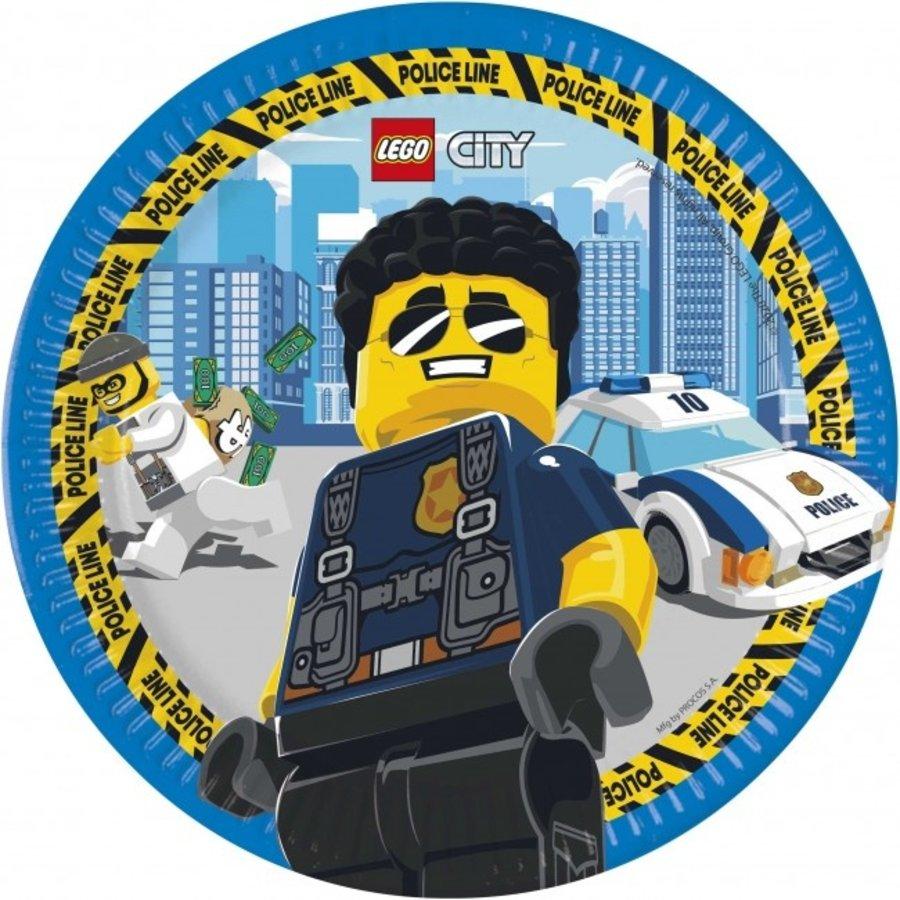 Bordjes Politie Lego City 8 stuks