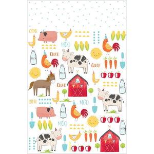 Tafelkleed met boerderij figuren