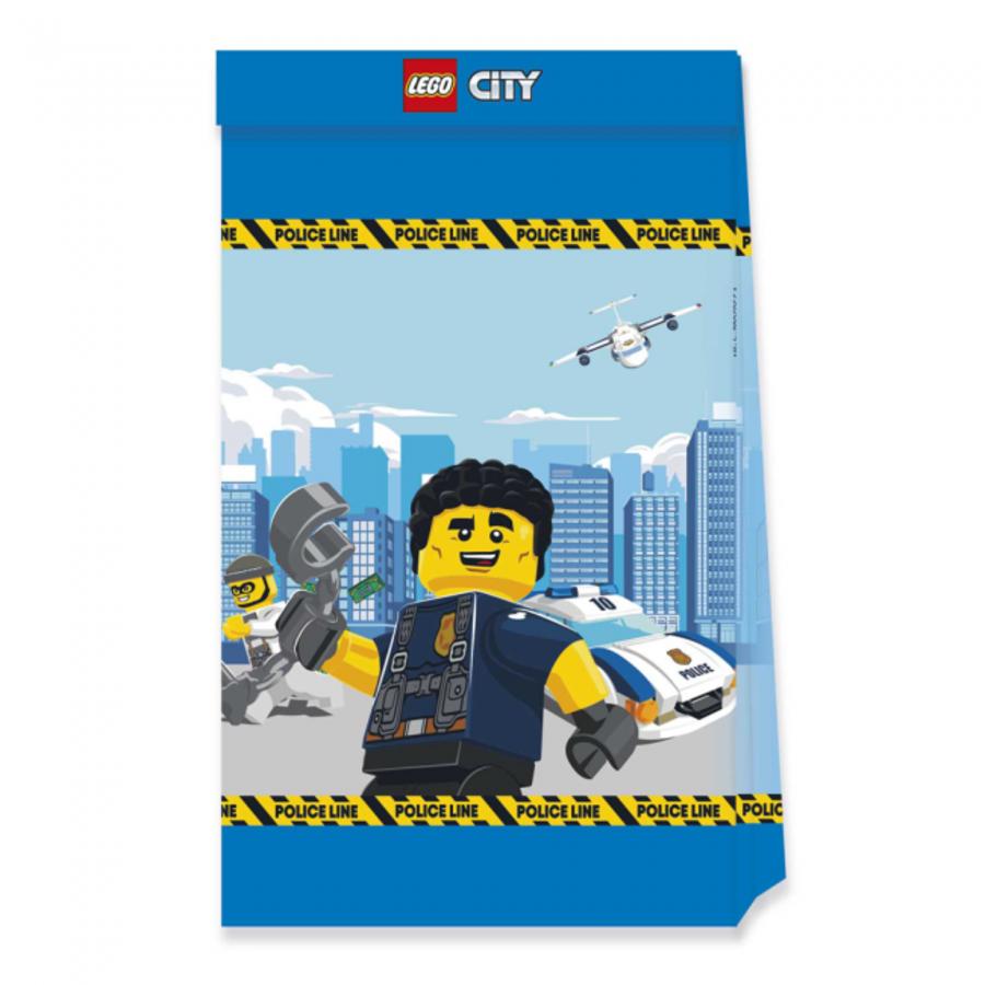 Feestzakjes Politie Lego City 4 stuks