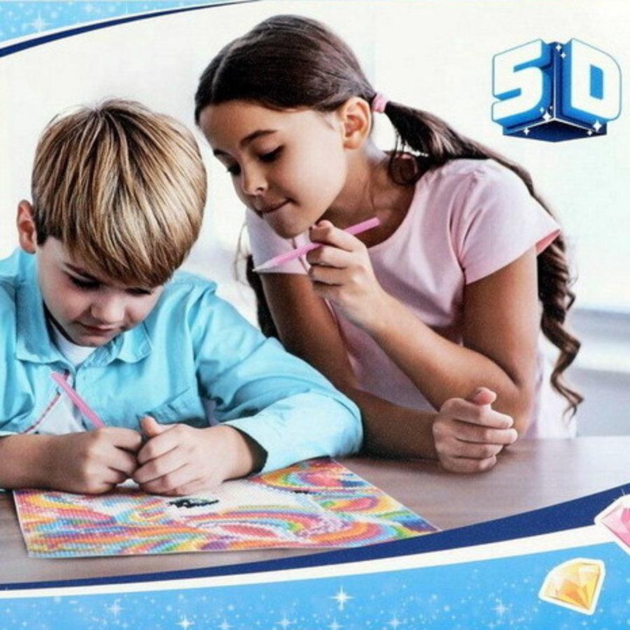 Diamond Painting voor kinderen op canvas vlinder