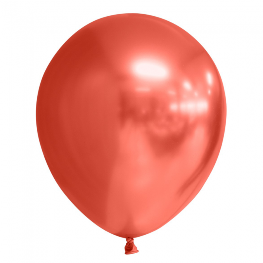 Chrome ballonnen rood 10 stuks