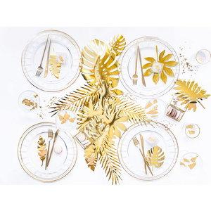 Decoraties palmbladeren goudkleurig 21-delig luxe