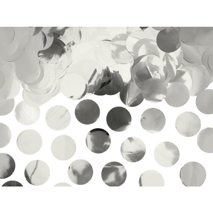 Confetti zilverkleurig 15 gram