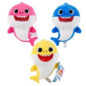 Baby Shark pluche knuffel 15cm blauw