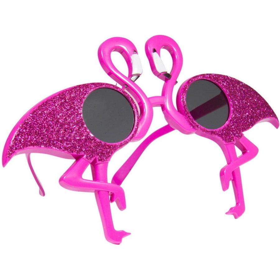 Bril flamingo met glitter