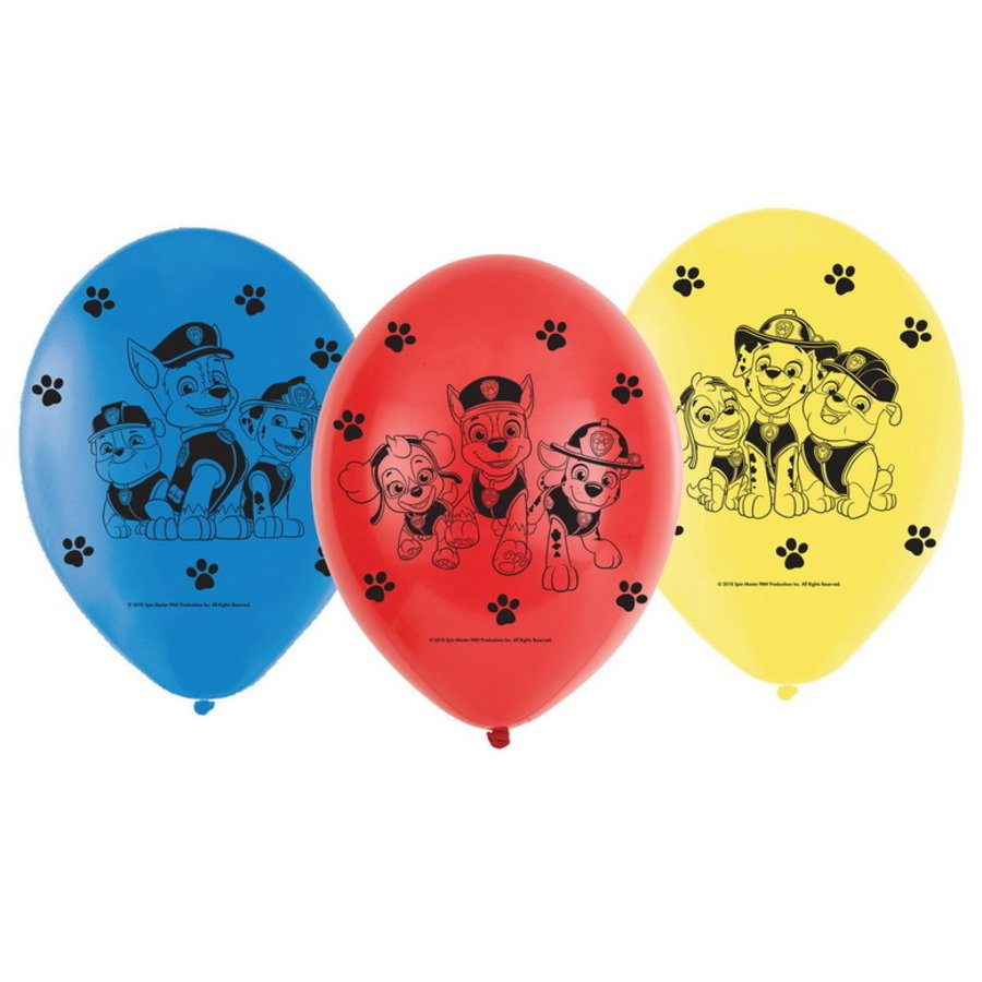 Ballonnen Paw Patrol 6 stuks