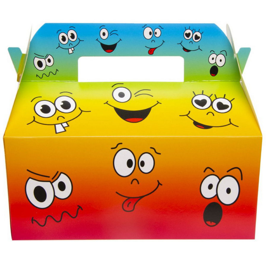 Party Lunch box Funny Faces 8 stuks