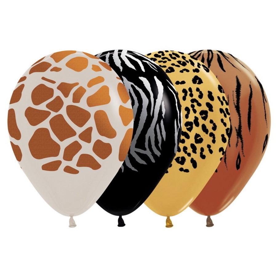 Ballonnen Safari metallic 6 stuks