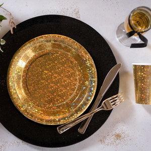 Bordjes goudkleurig sparkle 10 stuks