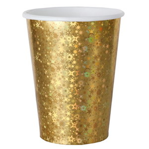 Bekertjes goudkleurig sparkle 10 stuks