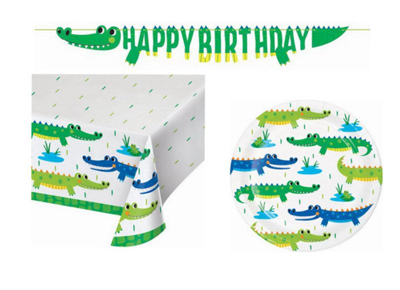 Krokodillen party versiering voor een kinderverjaardag