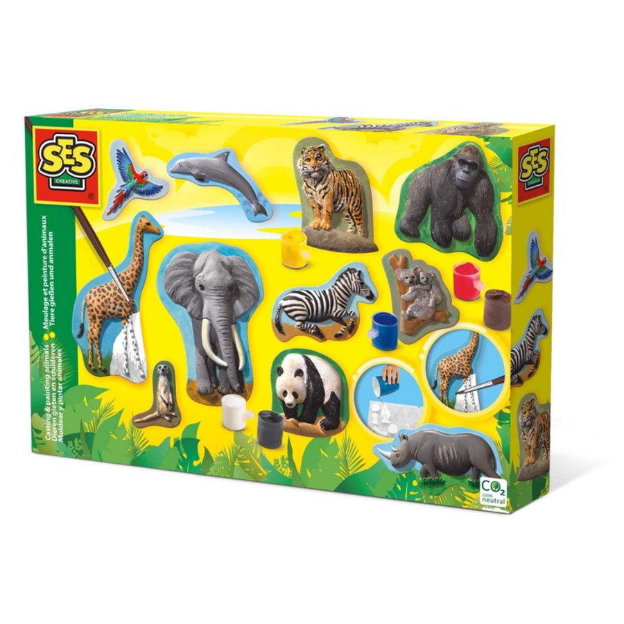 Gieten en schilderen - Jungle dieren en meer