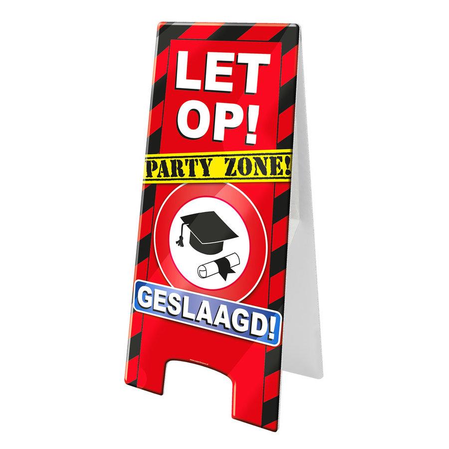 Let op Party Zone geslaagd rijbewijs