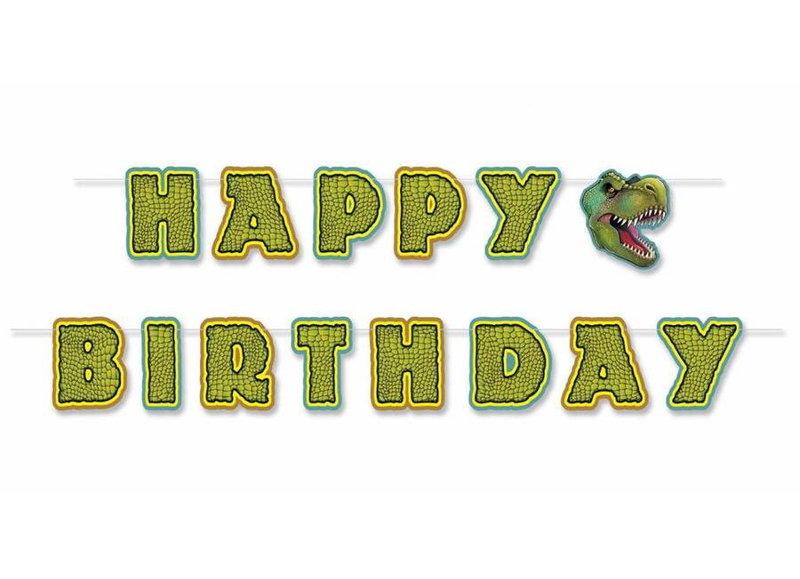 Slingers en Ballonnen bedrukt met dinosaurussen