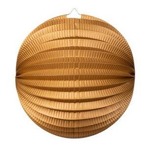 Bol lampion goudkleurig 25cm