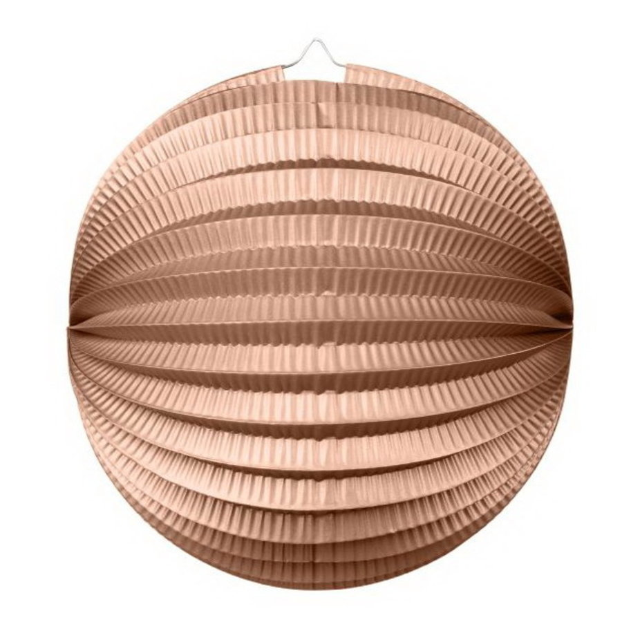 Bol lampion rosé goud 25cm