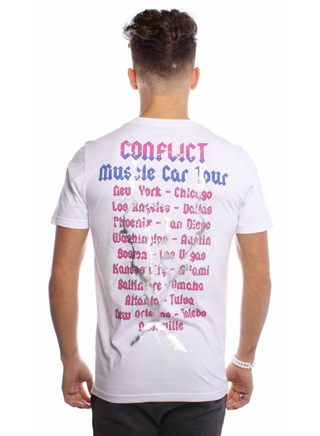 Conflict T-Shirt Muscle Cars White