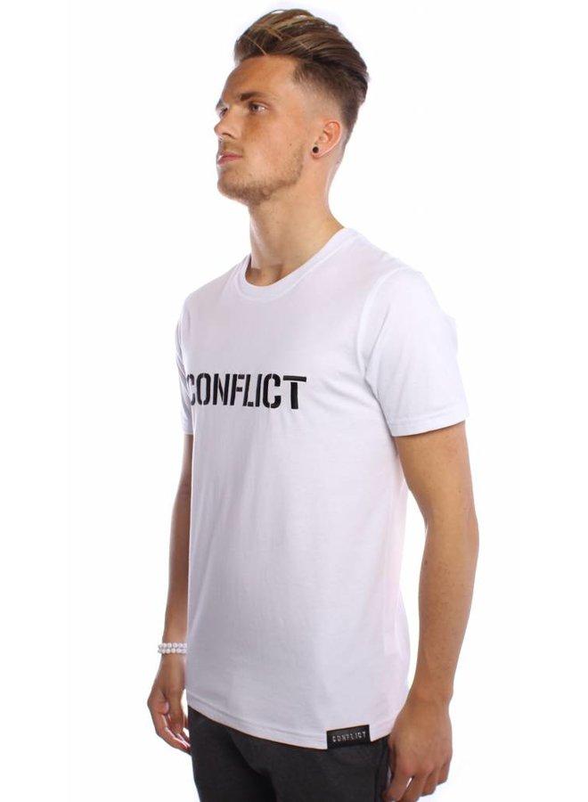 Conflict T-Shirt Logo Weiß