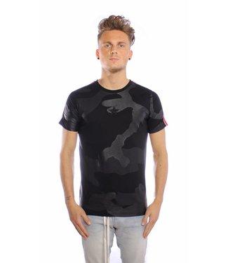 Conflict Conflict T-shirt Camo Line Black
