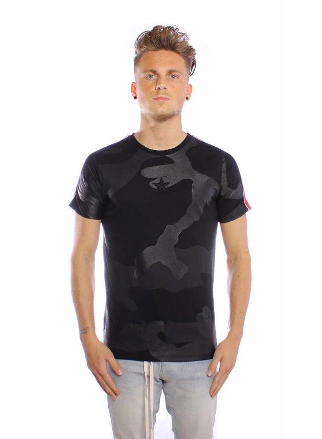 Conflict T-Shirt Camo Line Schwarz
